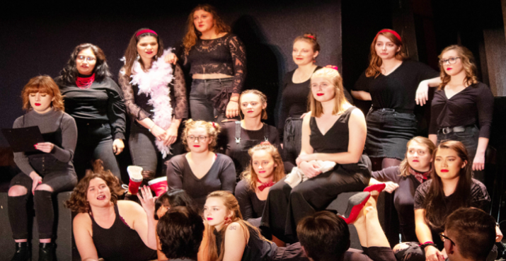 The cast of Luther College's production of