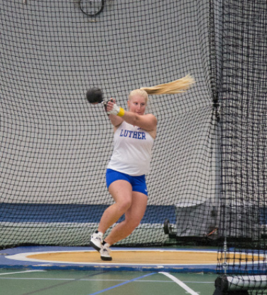 Annelise Barton ('21) took over 8th-all-time in the hammer throw.