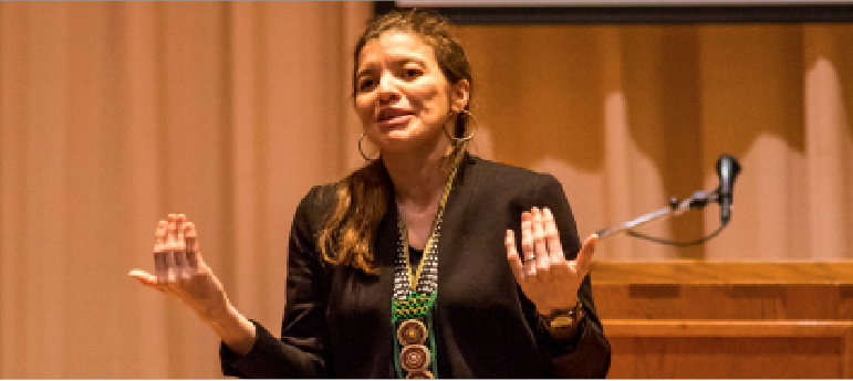 Professor+of+Anthropology+Anita+Carrasco+was+a+featured+panelist+for+the+forum%2C+and+offered+her+views+on+Latinx+students+belonging+at+Luther.+%28Pictured+here+during+her+Paideia+Lecture+%22Culture+as+Resistance+in+the+Chilean+Andes%3A+An+Indigenous+Community%27s+Struggle+for+Rights+and+Recognition%22+on+March+11%2C+2020%29.