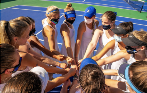 The Women's Tennis Team finished their season undefeated.