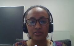 Dr. Fikirte Erda at the virtual gathering.
