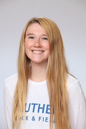 Rachael Luebbe ('23) recently earned All-Central Region honors in the High Jump.