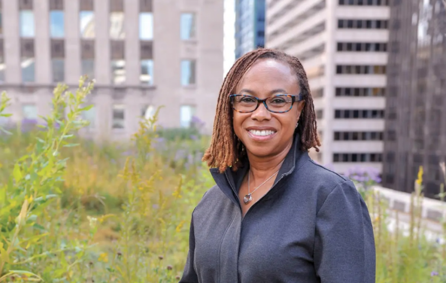 Senior director of energy and sustainability for Elevate, Sandra Henry, poses for a headshot.